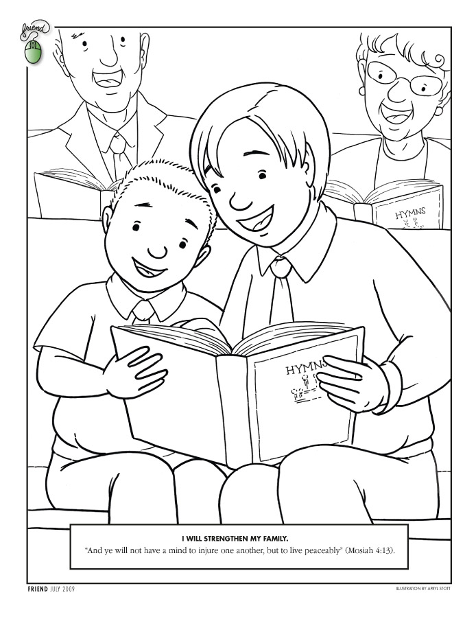 coloring pages lds lesson ideas page 4 music part 2 - Lds Primary Coloring Pages Prayer